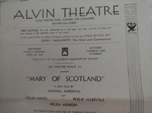 Alvin Theatre June 27, 1932